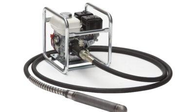 De conventionele mechanische trilnaald met 7 meter rubber slang.